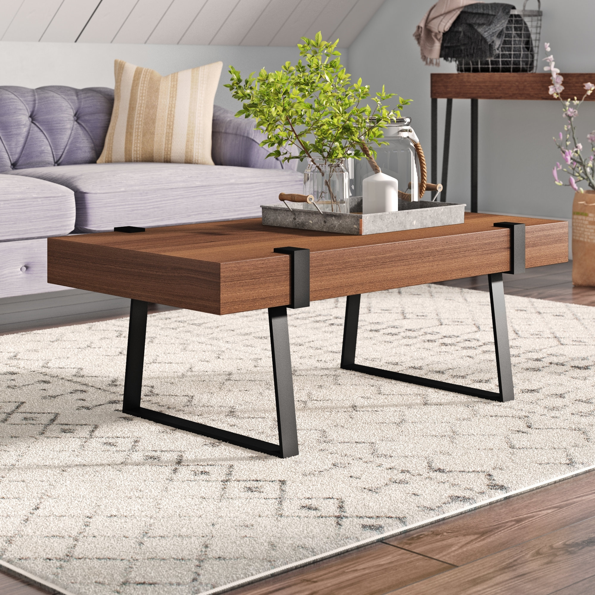 Laurel Foundry Modern Farmhouse Wisteria Indoor Coffee Table in Expressionist Coffee Tables (Image 18 of 30)