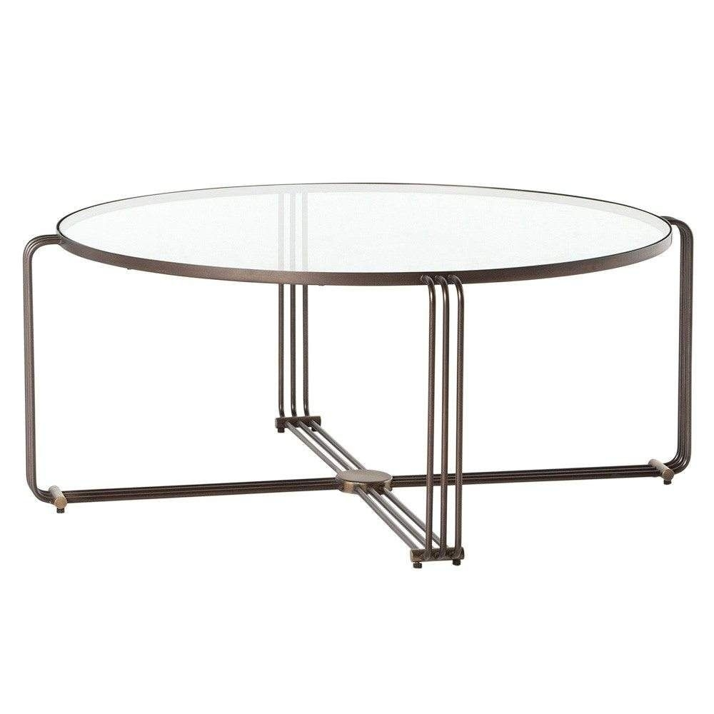 Lawrence Coffee Table within Rectangular Brass Finish and Glass Coffee Tables (Image 13 of 30)