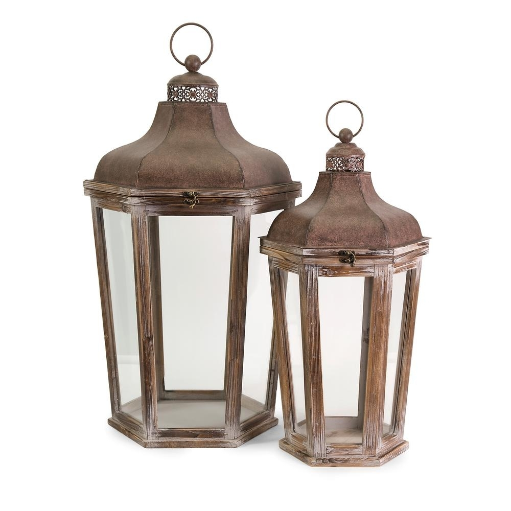 Layla Oversized Lanterns (2 Pack) 89020 2 – The Home Depot With Outdoor Oversized Lanterns (View 13 of 20)