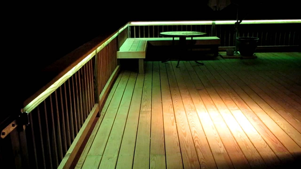 Led Deck Lighting - Youtube intended for Outdoor Deck Lanterns (Image 7 of 20)