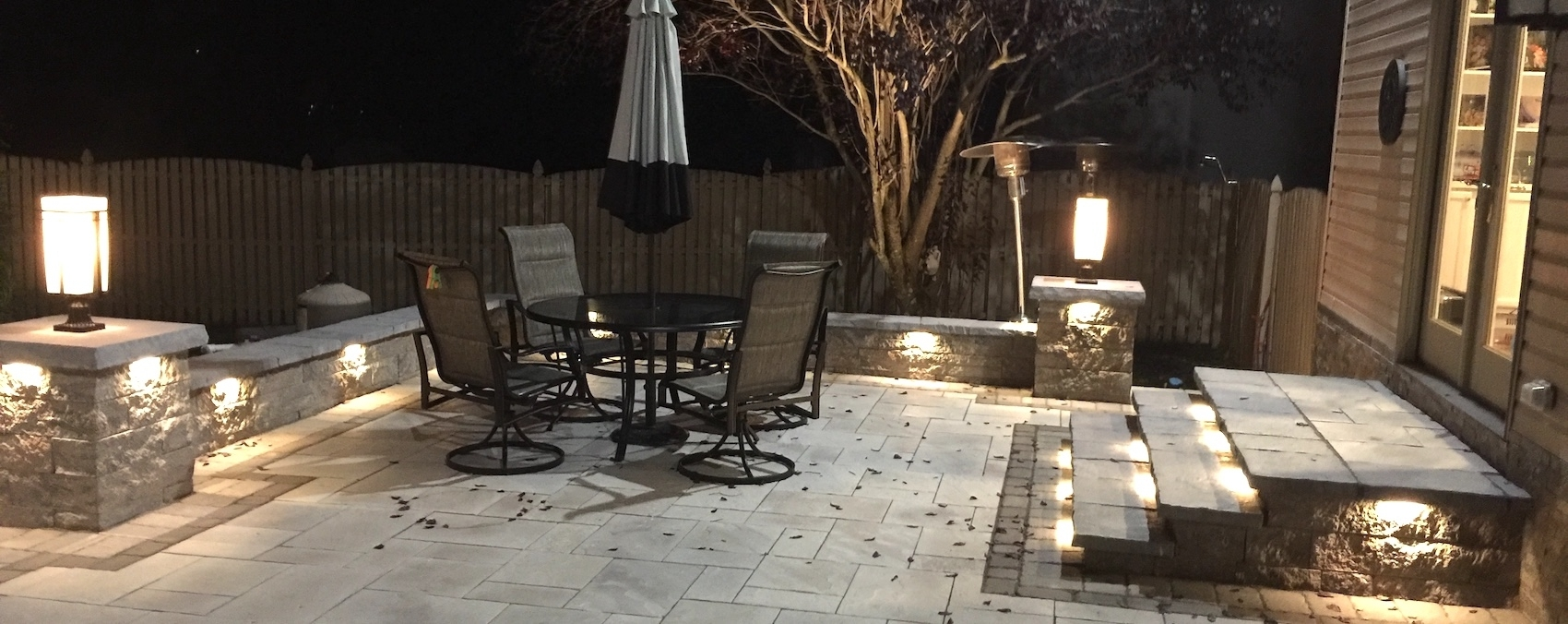 Led Landscape Lighting Nj | Hardscape Lighting For Patios, Pools with Outdoor Driveway Lanterns (Image 8 of 20)
