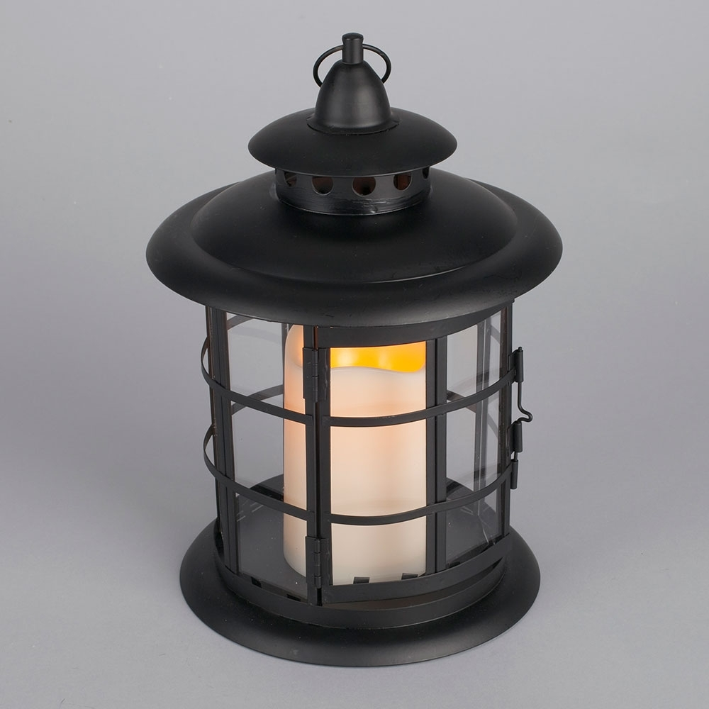 Led Metal & Resin Battery Operated Flameless Candle Lantern With Regard To Resin Outdoor Lanterns (View 16 of 20)