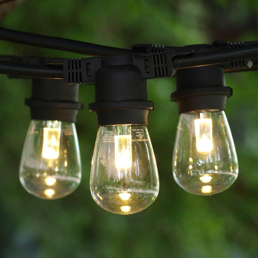 Led Outdoor String Lights, 100' Black, Led S14 Professional Bulbs intended for Outdoor Rope Lanterns (Image 11 of 20)