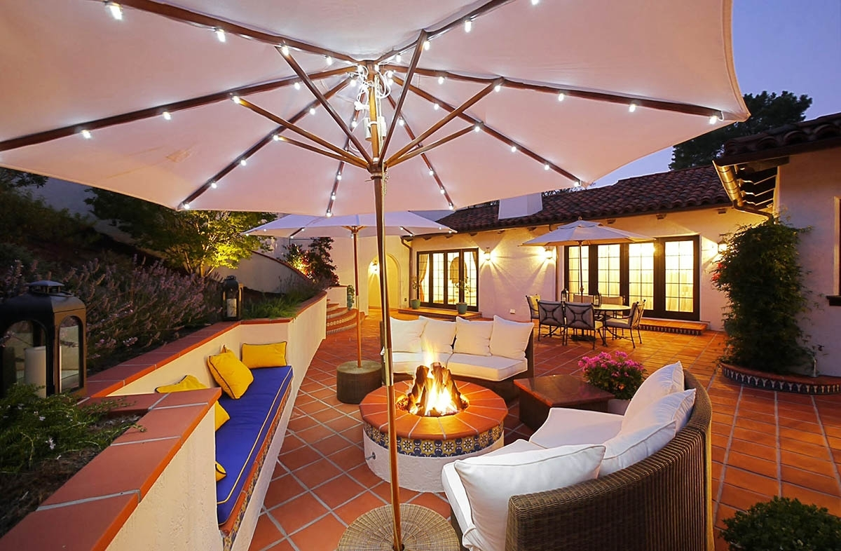 Led Outdoor Umbrella Lights Battery Operated — Life On The Move intended for Outdoor Battery Lanterns For Patio (Image 12 of 20)
