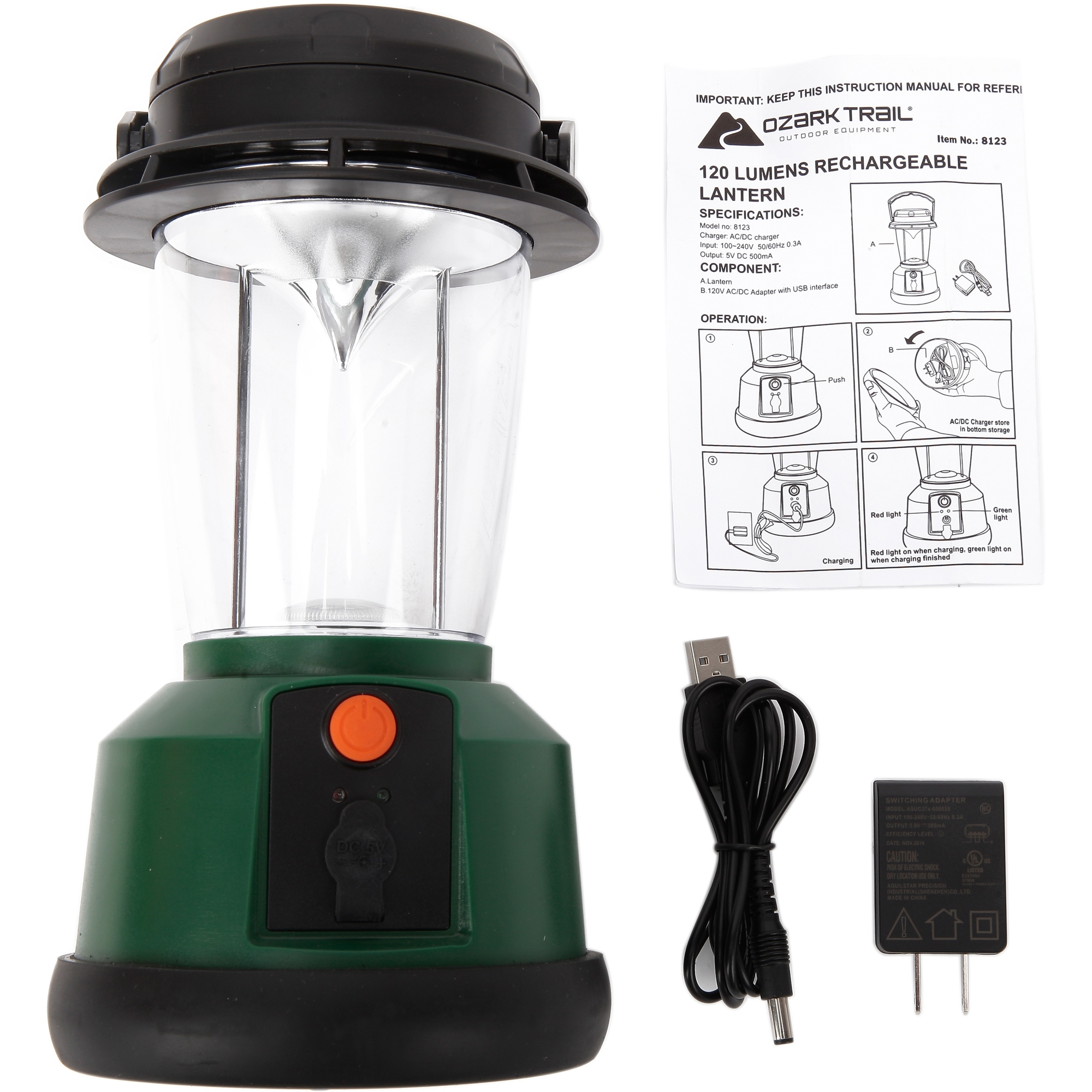 Led Rechargeable Lantern With 3 Mods And Usb Interface, 120 Lumens Pertaining To Outdoor Rechargeable Lanterns (View 12 of 20)
