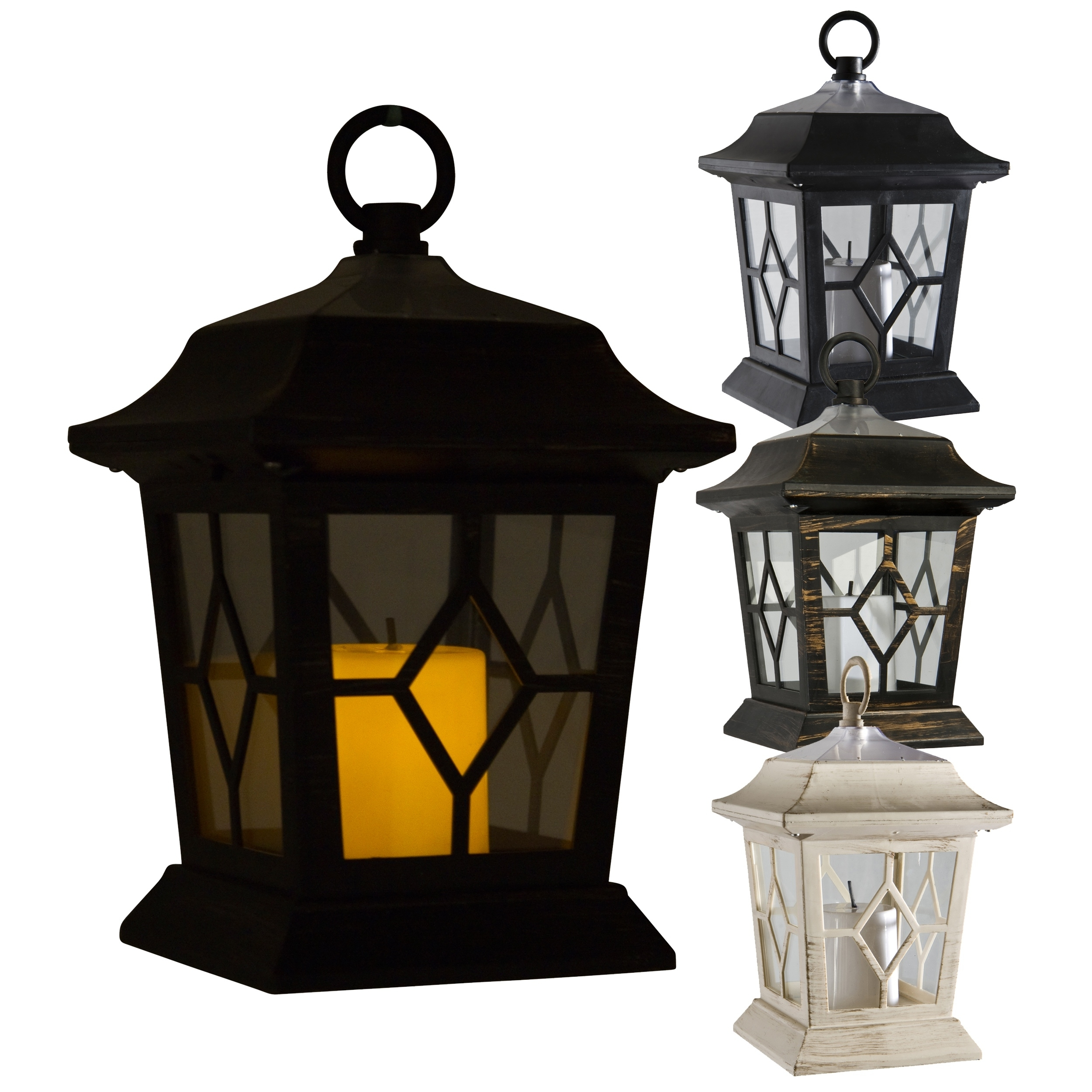 Led Solar Powered Victorian Candle Lantern Lamp Light Garden Mood pertaining to Outdoor Lanterns With Led Candles (Image 10 of 20)