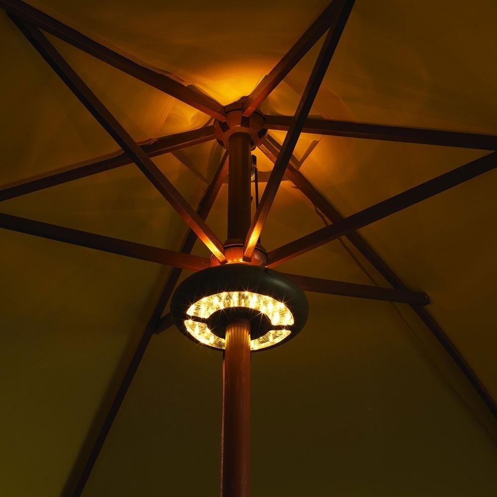 Led Umbrella Light - Battery Operated in Outdoor Umbrella Lanterns (Image 8 of 20)