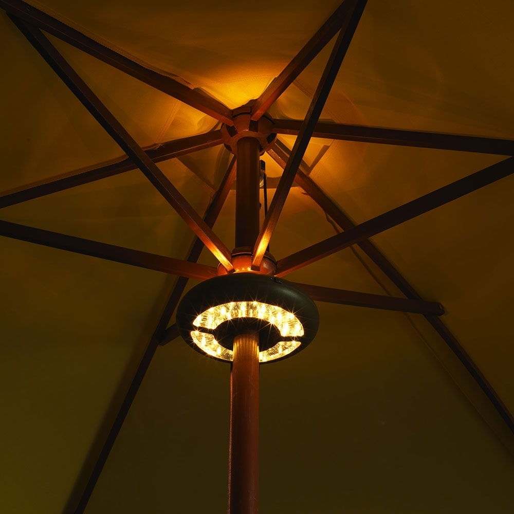 Led Umbrella Light - Battery Operated inside Outdoor Battery Lanterns for Patio (Image 14 of 20)