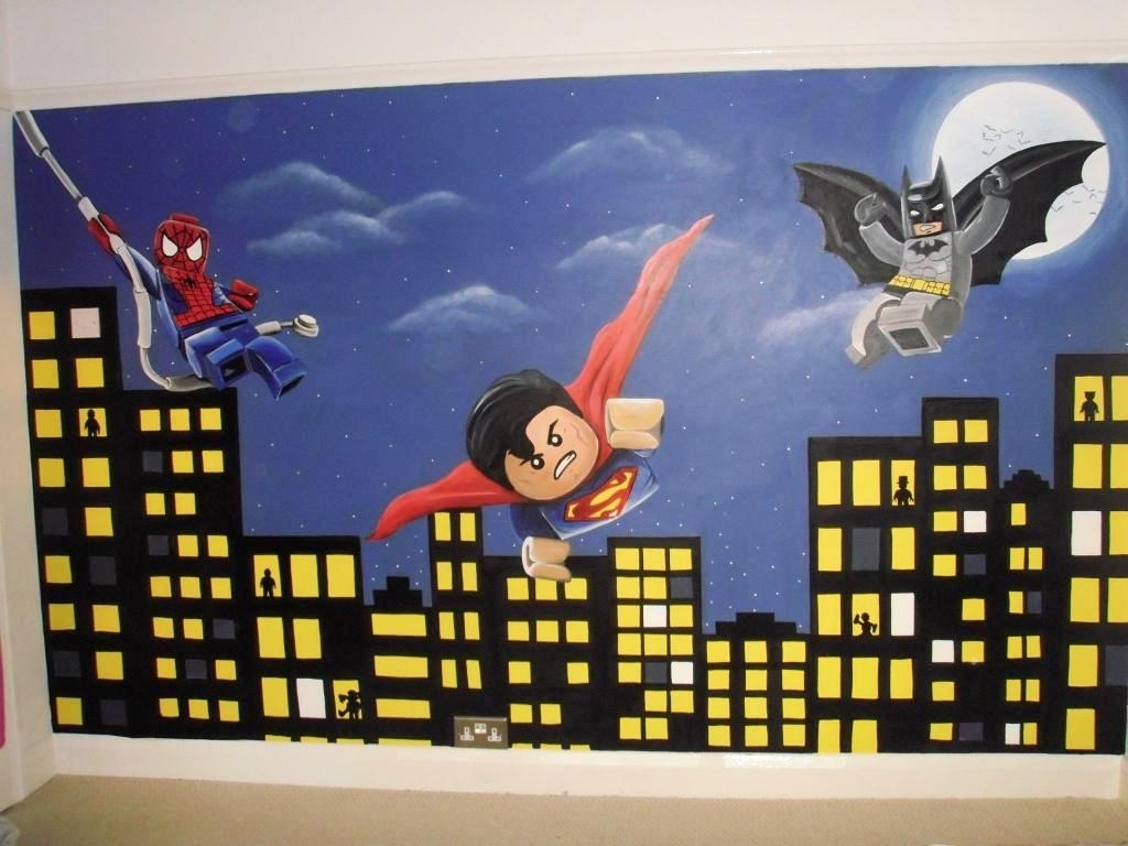 Lego Superhero Wall Decals - New Furniture with regard to Superhero Wall Art (Image 9 of 20)