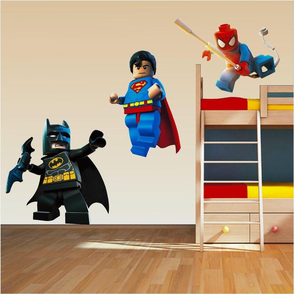 Lego Wall Art Stickers New Superhero Wall Decor Talentneeds For Superhero Wall Art (View 10 of 20)