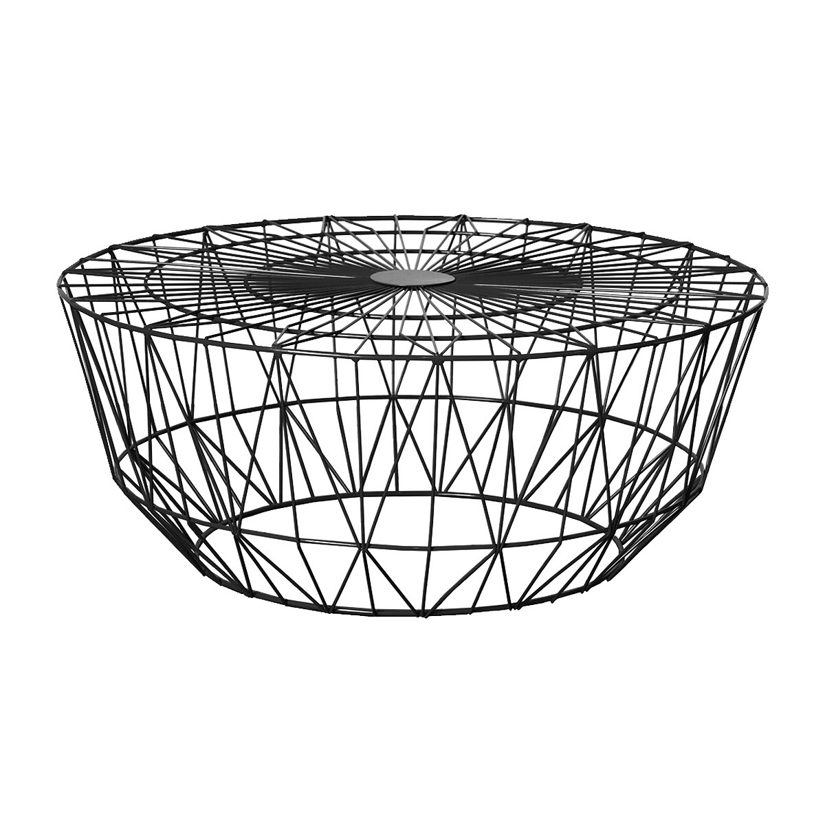 Life Interiors - Studio Wire Coffee Table (Black, 90Cm) - Modern regarding Black Wire Coffee Tables (Image 12 of 30)