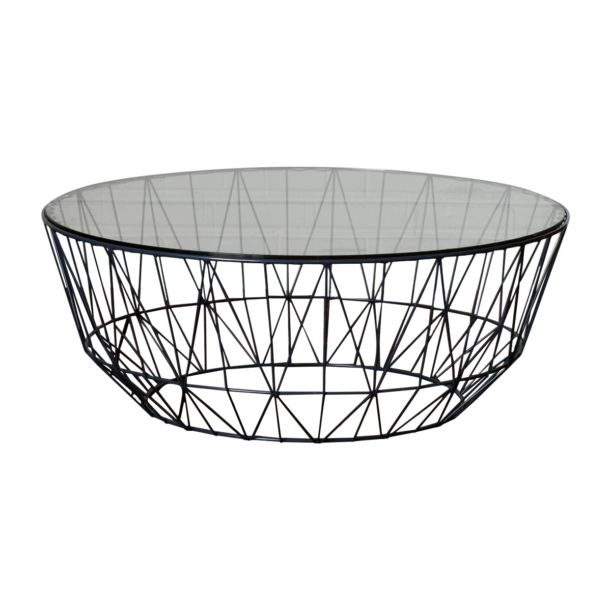 Life Interiors   Studio Wire Glass Coffee Table (Black)   Modern In Black Wire Coffee Tables (Photo 1 of 30)