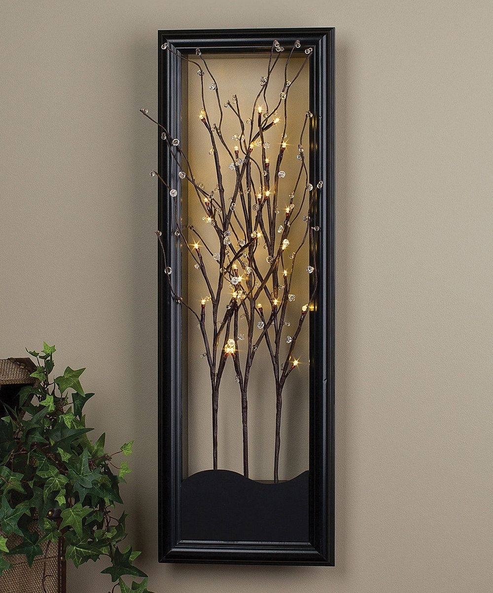 Light-Up Willow Branch Wall Artthe Gerson Company #zulily with regard to Light Up Wall Art (Image 13 of 20)
