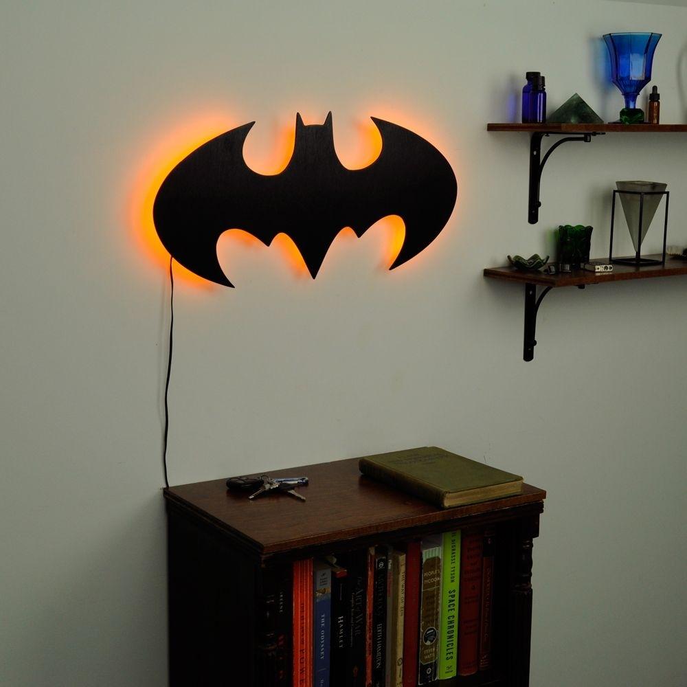 Lighted Batman Logo Wall Art | Dylan | Pinterest | Batman, Logos And Pertaining To Batman Wall Art (View 7 of 20)