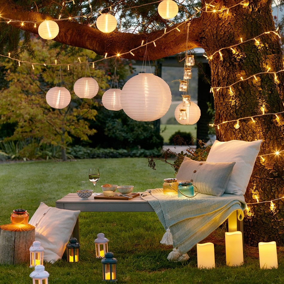 Lighting: Green Grass Design With Outdoor Lights Ideas Plus Tall with Outdoor Lanterns For Parties (Image 9 of 20)