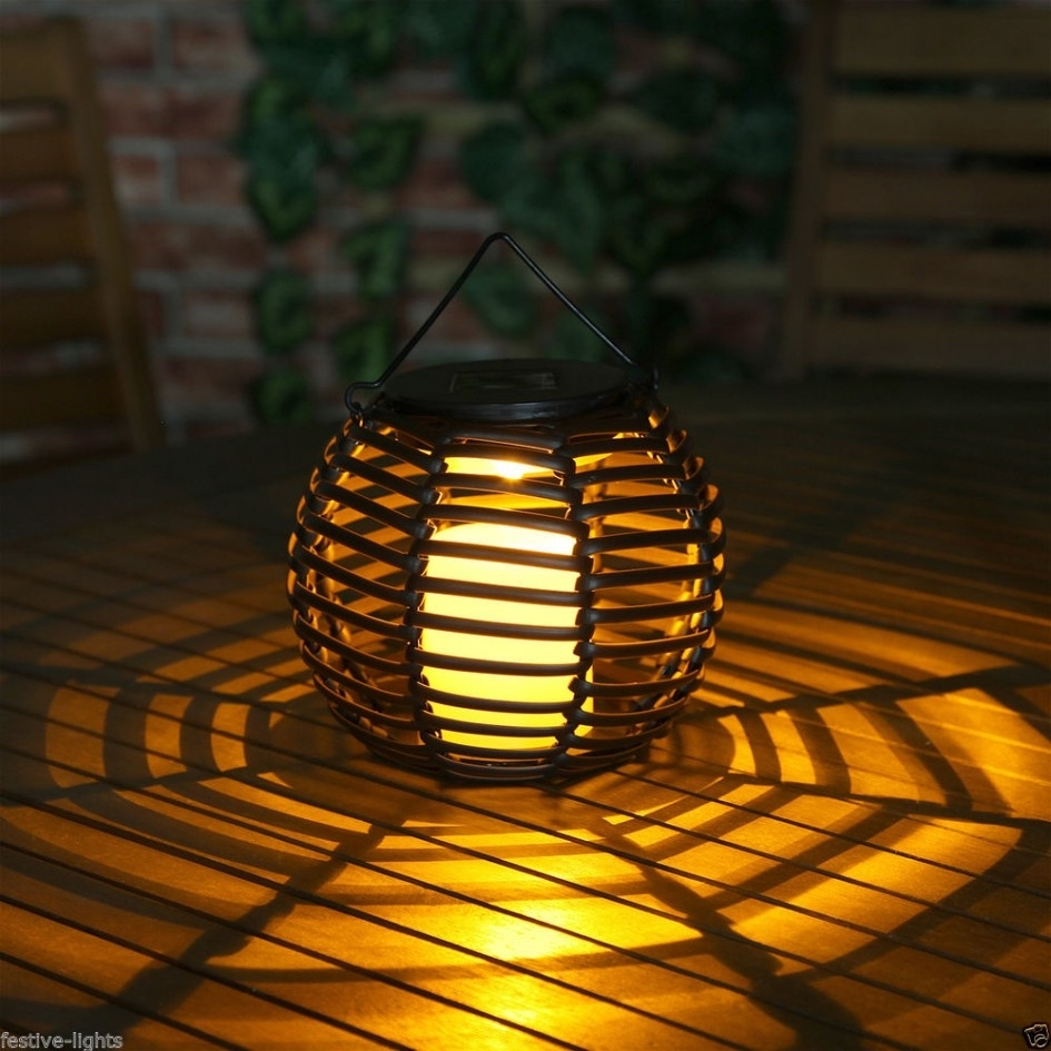 Lighting Ideas: Outdoor Lantern For Patio With Fire Pit Table And in Outdoor Round Lanterns (Image 9 of 20)