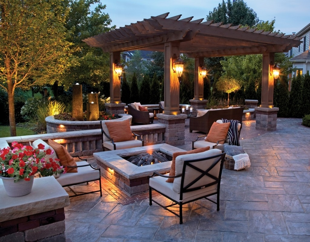 Lighting Ideas: Outdoor Lantern For Patio With Fire Pit Table And throughout Outdoor Lanterns For Tables (Image 5 of 20)