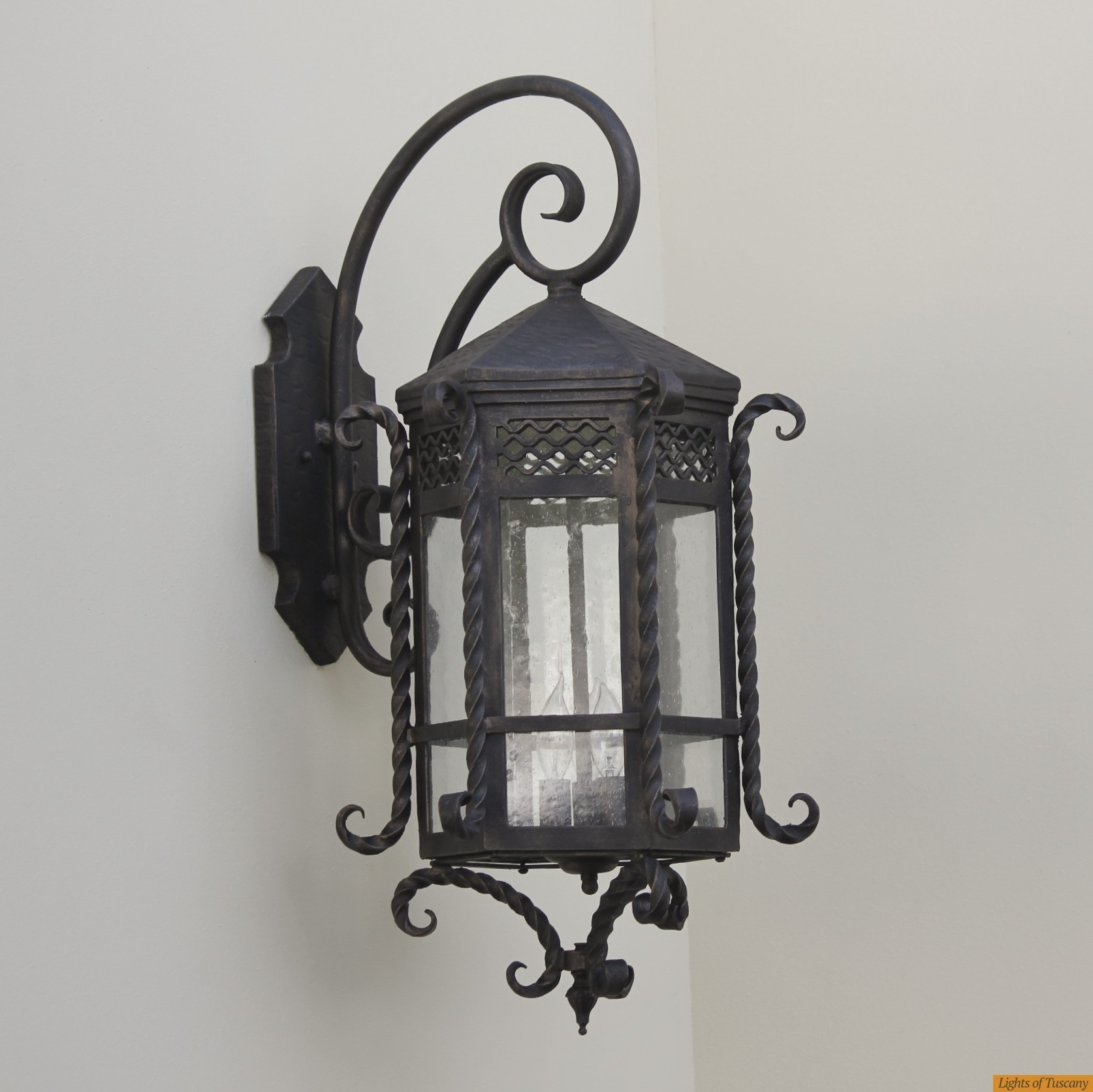 Lights Of Tuscany 7017-3 Spanish Style Outdoor Lantern/ Exterior inside Outdoor Iron Lanterns (Image 13 of 20)