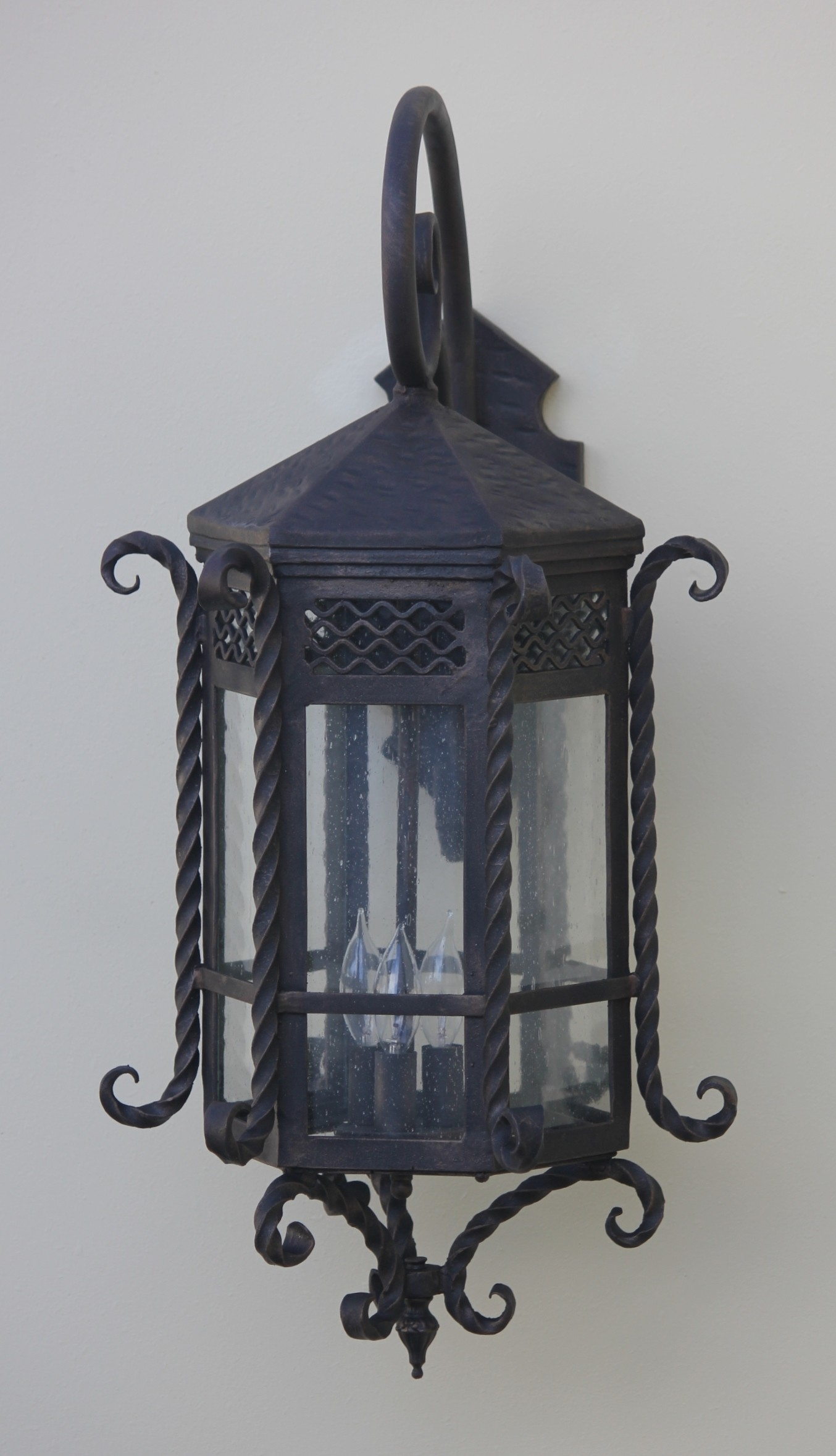 Lights Of Tuscany 7017-3 Spanish Style Outdoor Lantern/ Exterior regarding Outdoor Exterior Lanterns (Image 11 of 20)