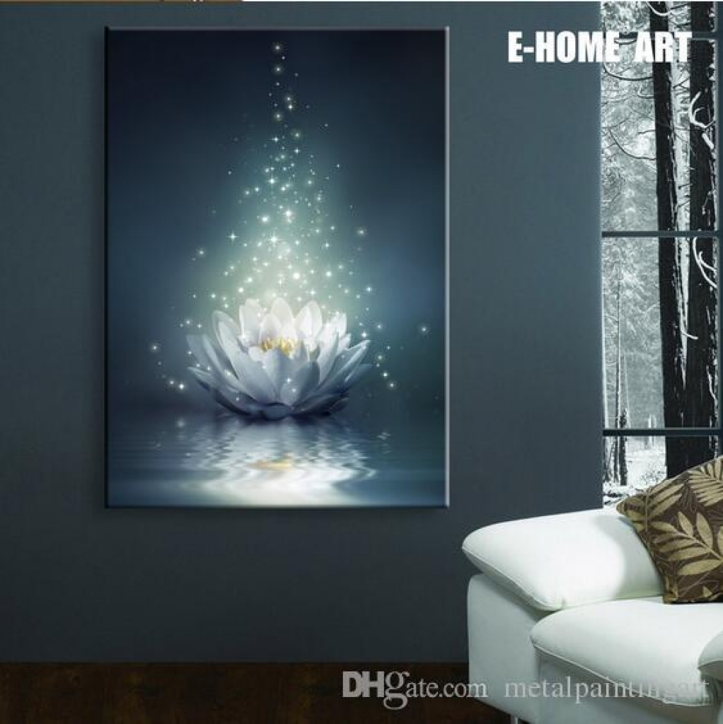 Lights On Wall Decor 2018 Led Lights Wall Art Canvas Spray Painting inside Light Up Wall Art (Image 14 of 20)