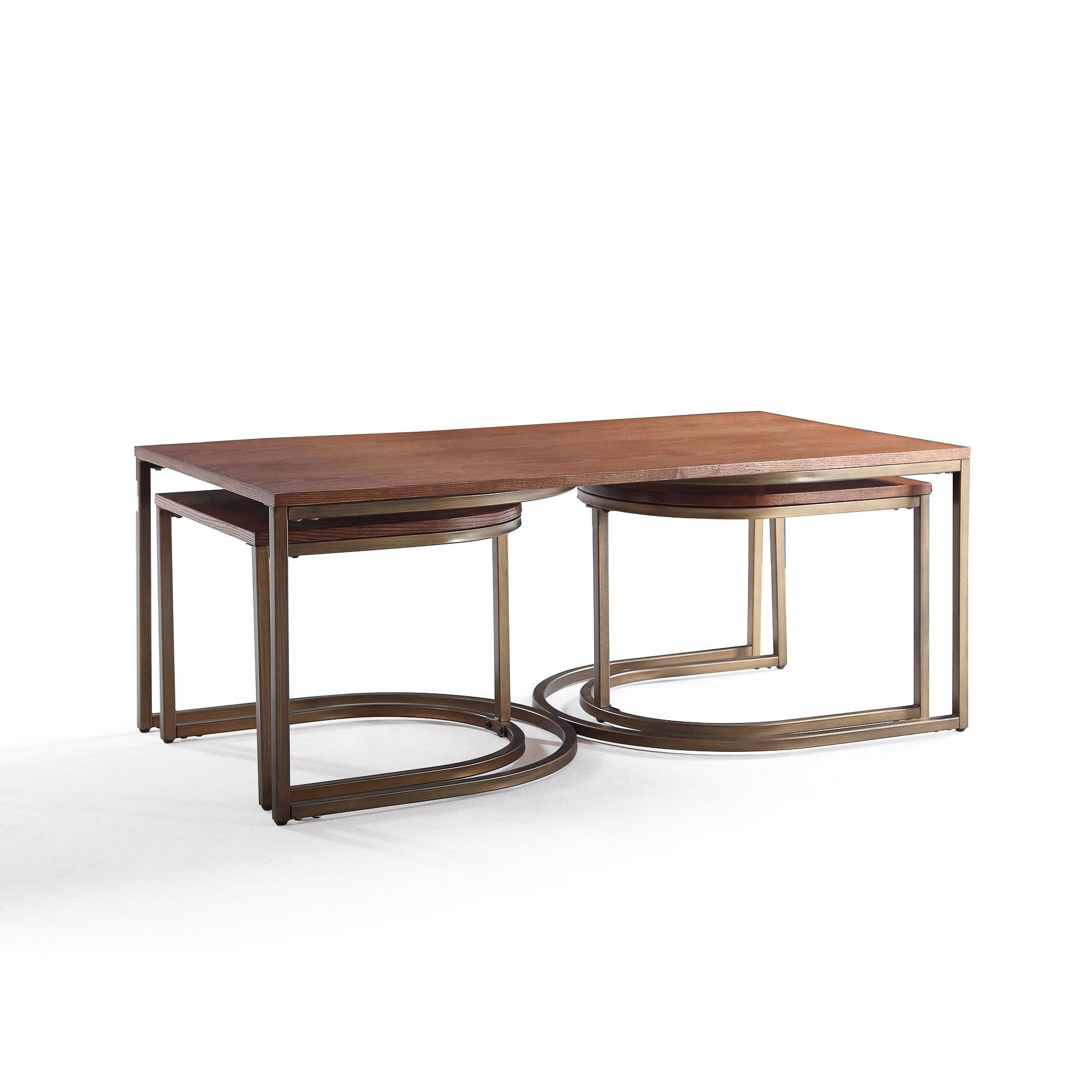 Lincoln Deco Walnut Nesting Coffee Tables, Haven Homehives regarding Haven Coffee Tables (Image 24 of 30)