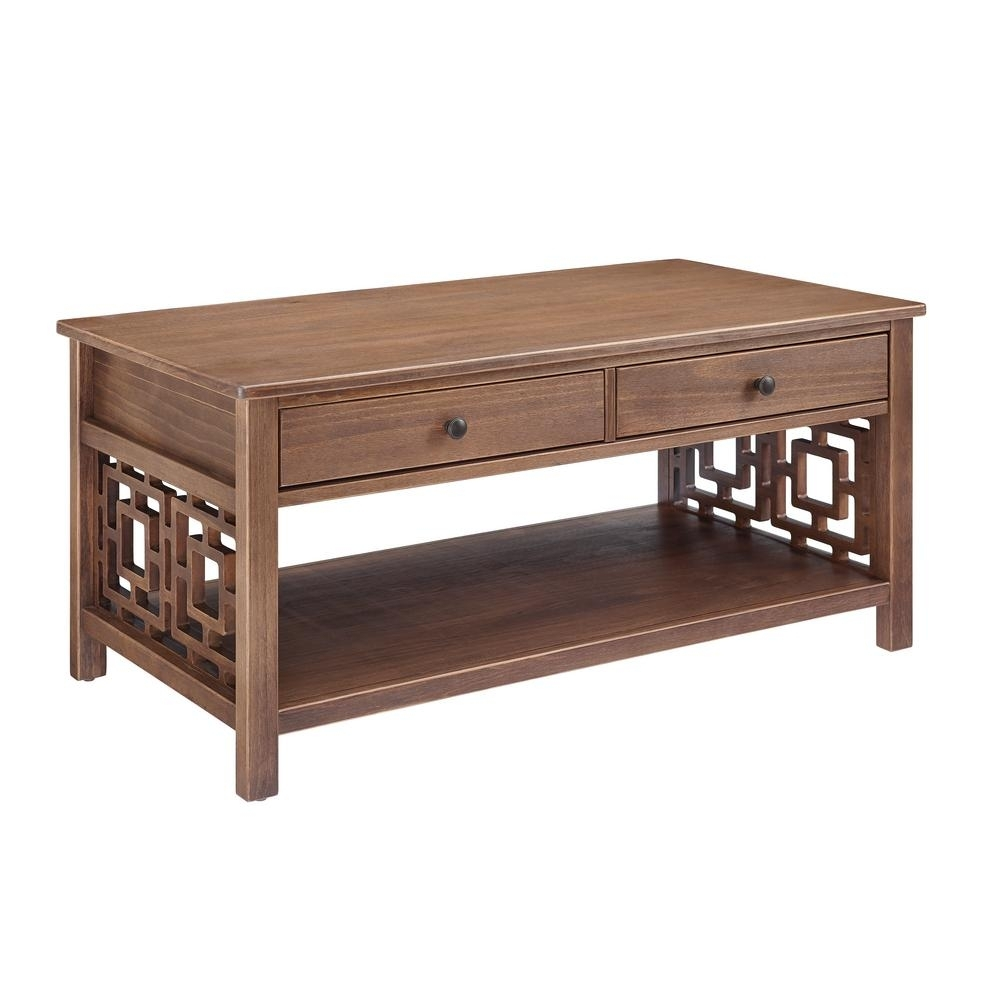 Linon Home Decor Haven Rustic Brown Coffee Table-Thd01869 - The Home with Haven Coffee Tables (Image 25 of 30)