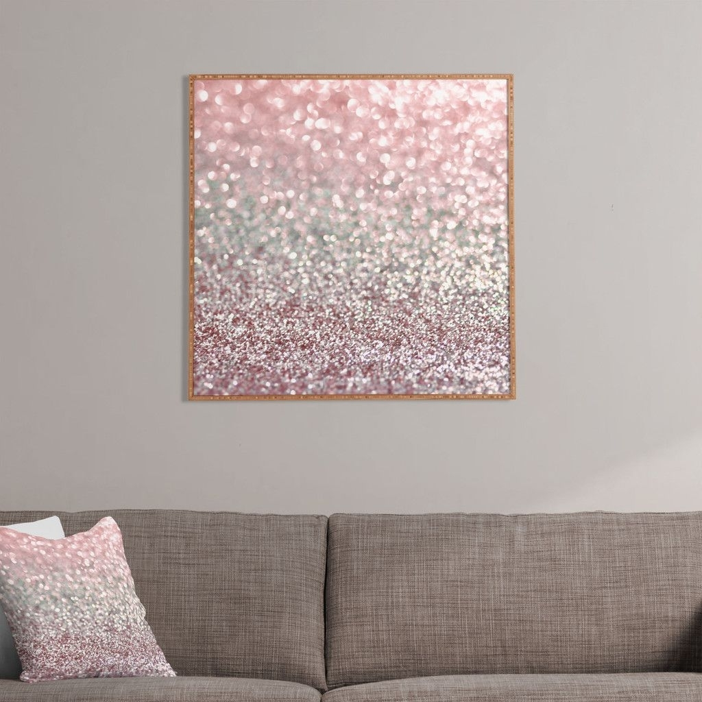 Lisa Argyropoulos Girly Pink Snowfall Framed Wall Art | Home in Pink Wall Art (Image 14 of 20)