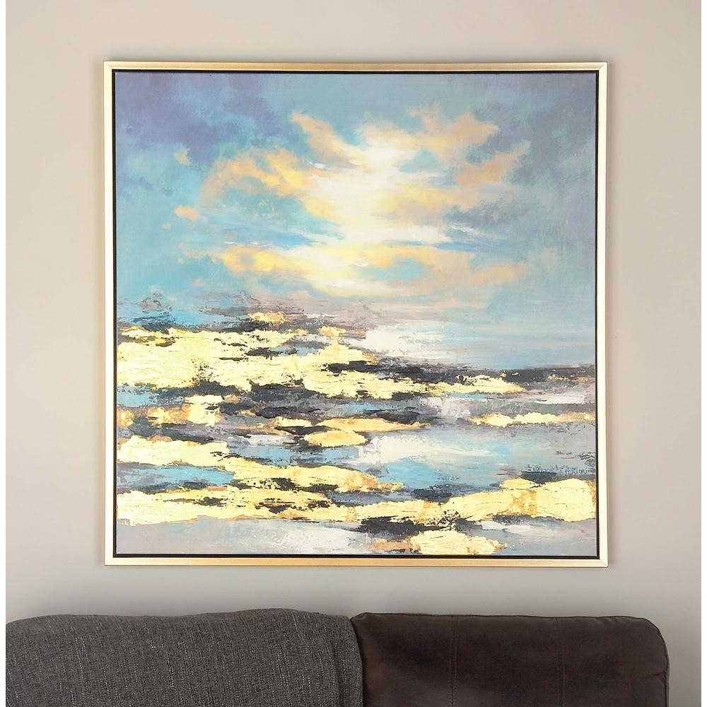 Litton Lane 39 In. X 39 In. Sunrise Canvas Wall Art-47458 - The Home intended for Canvas Wall Art (Image 15 of 20)