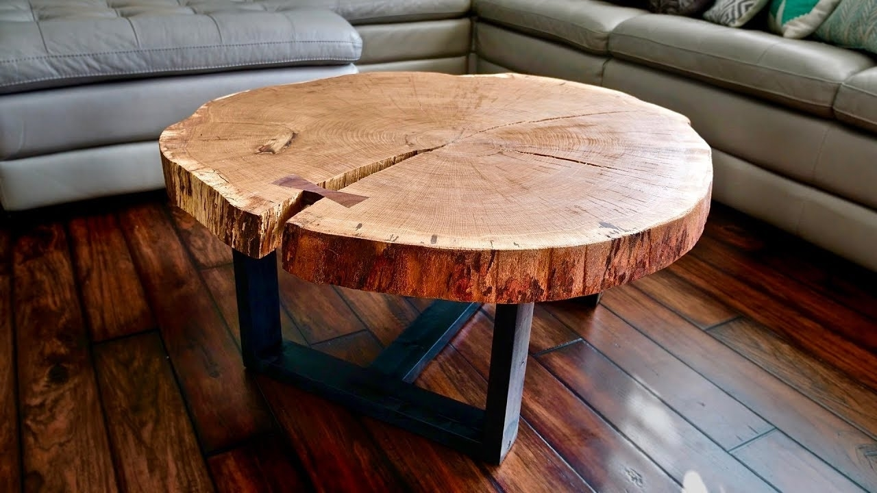 Live Edge Coffee Table, How To Flatten A Live Edge Slab intended for Fresh Cut Side Tables (Image 17 of 30)