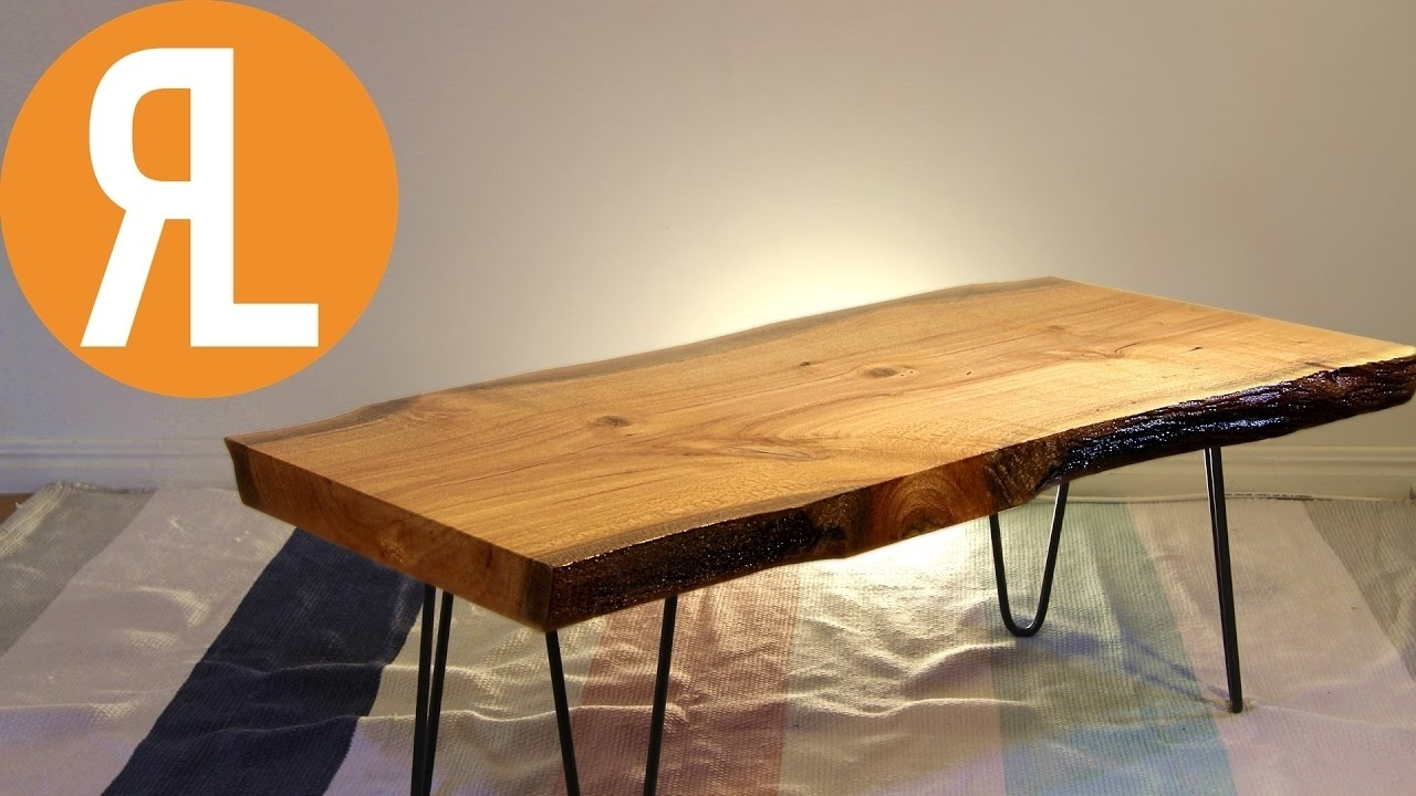 Live Edge Table | How To Flatten Wood Using A Router - Youtube with regard to Chiseled Edge Coffee Tables (Image 14 of 30)