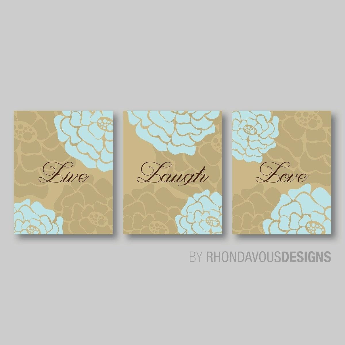 Live Laugh Love Wall Art – Live Laugh Love Decor – Bathroom Art Inside Live Laugh Love Wall Art (View 13 of 20)