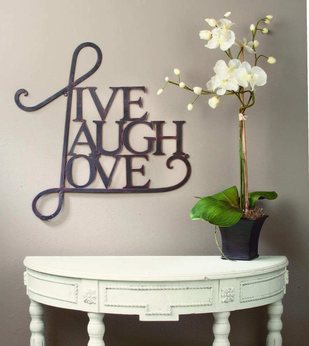 Live Laugh Love Wall Art – Tripar International, Inc (View 10 of 20)