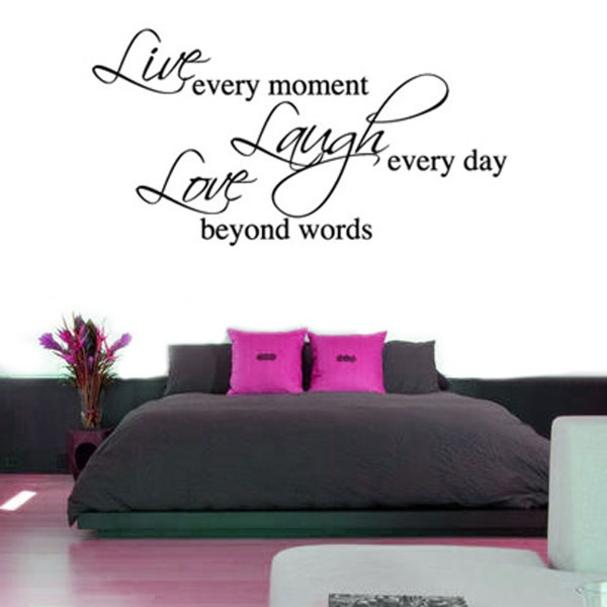 Live Laugh Love Wall Sticker (large) – Red Candy In Live Laugh Love Wall Art (View 11 of 20)