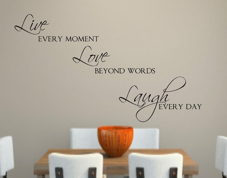 Live Love Laugh Vinyl Epic Live Laugh Love Wall Decor – Wall Within Live Laugh Love Wall Art (View 8 of 20)