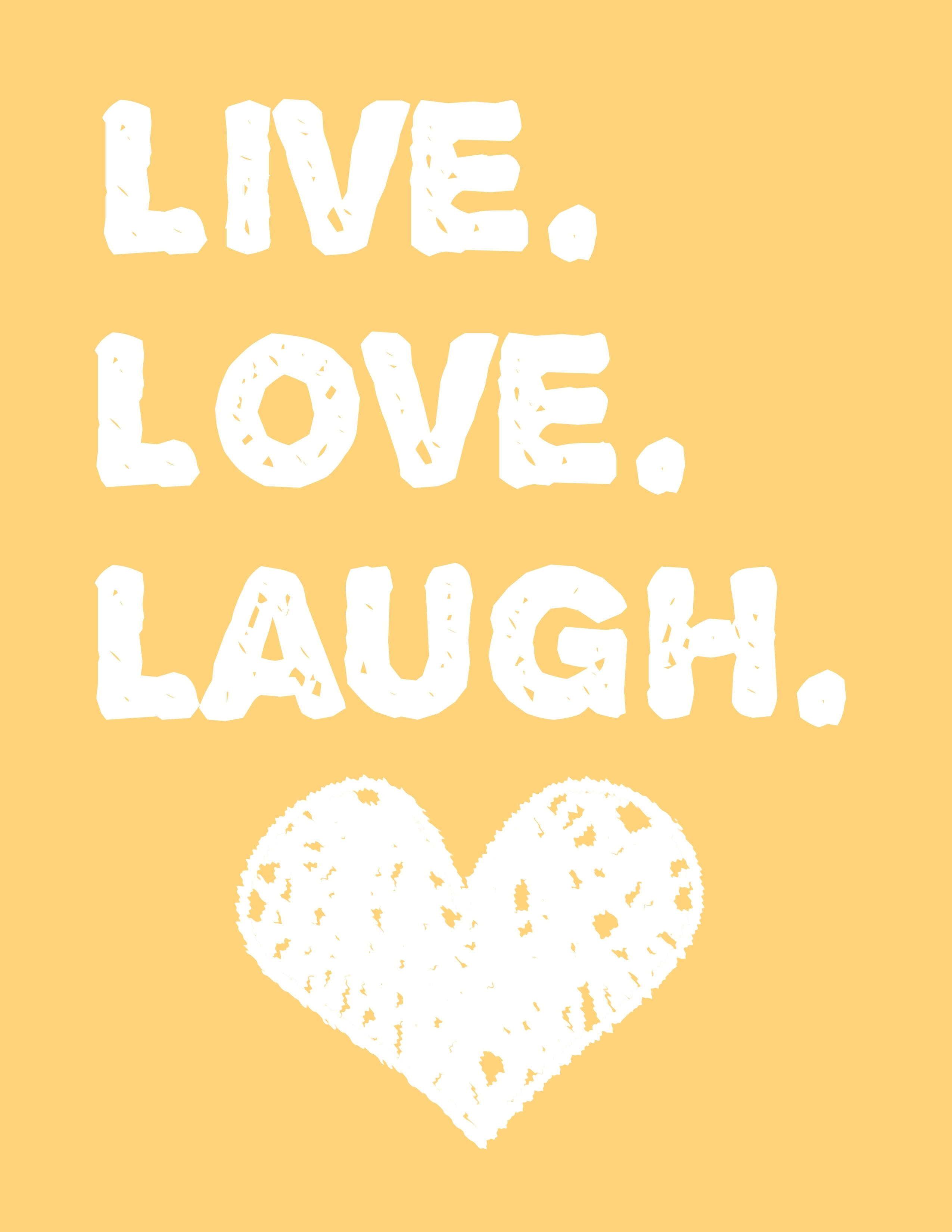 Live Love Laugh Wall Art – A Free Printable! – Moms And Crafters Intended For Free Printable Wall Art Decors (View 2 of 20)