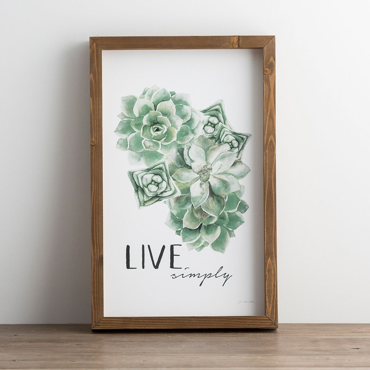 Live Simply – Succulent Framed Wall Art | Dayspring Pertaining To Succulent Wall Art (View 10 of 20)