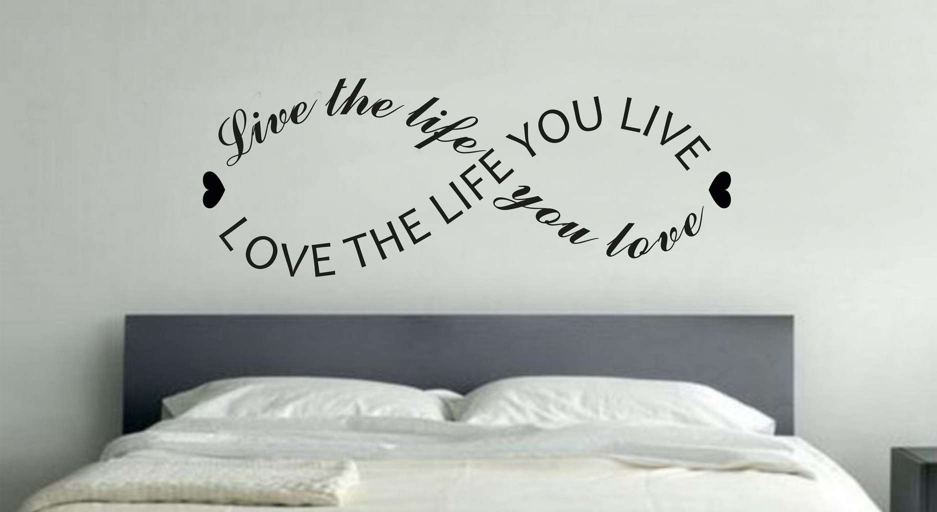 Live The Life You Love Infinity Wall Art Decal inside Love Wall Art (Image 10 of 20)