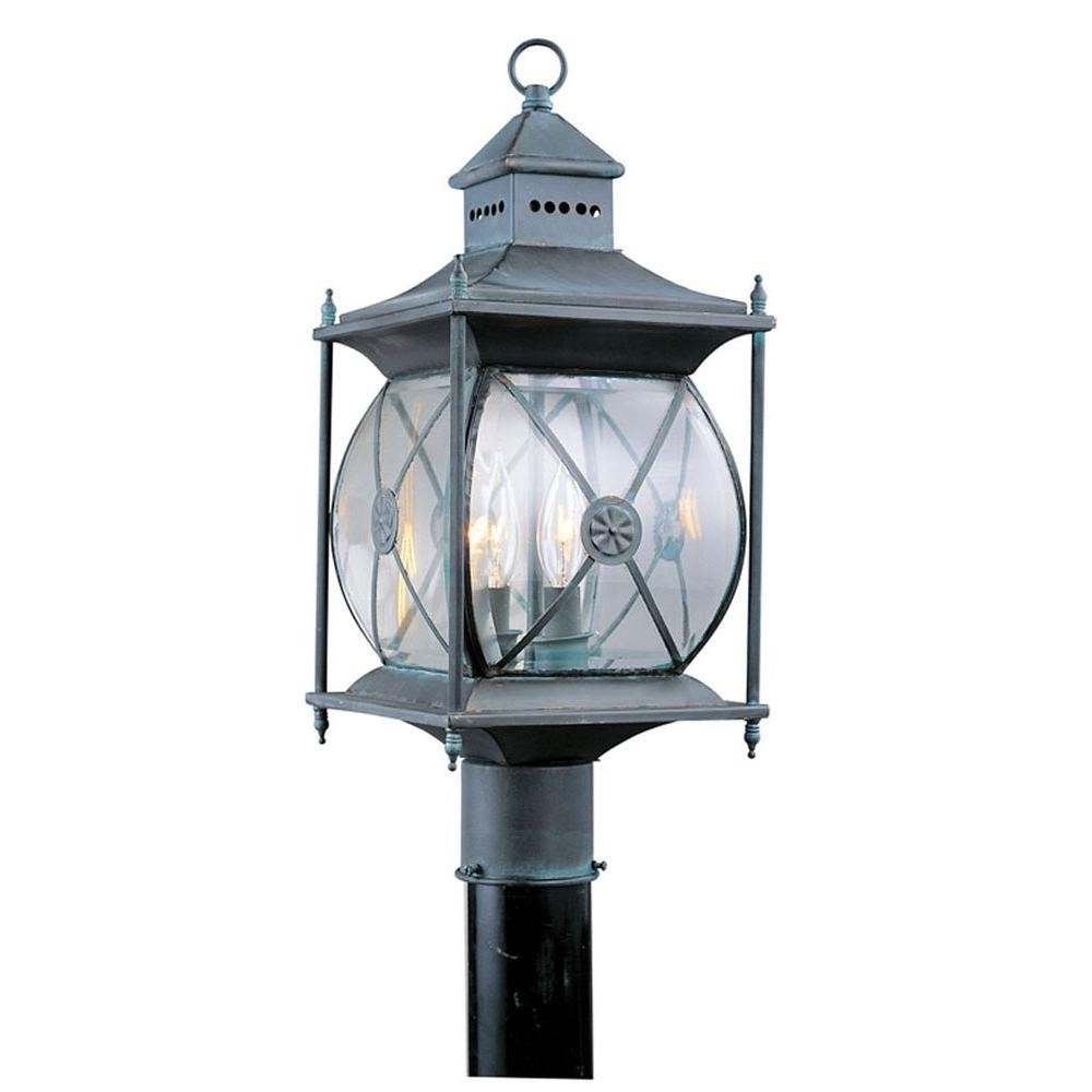 Livex Lighting Providence 2-Light Outdoor Grey Incandescent Post with regard to Outdoor Grey Lanterns (Image 11 of 20)