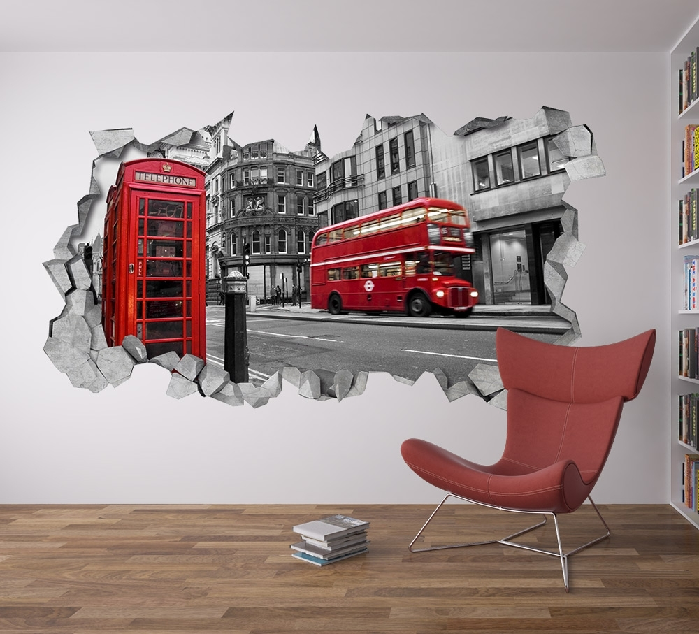 London Wall Decor – Moonwallstickers Regarding 3D Wall Art (View 13 of 20)