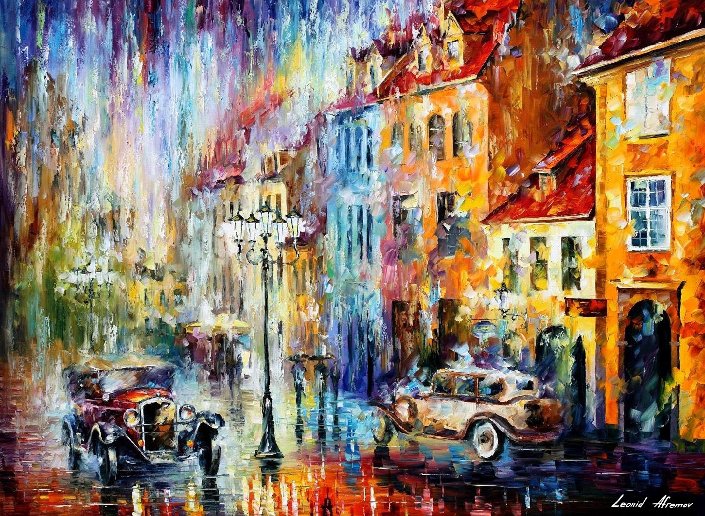 Long Day — Abstract Wall Art — Palette Knife Oil Painting On Canvas for Abstract Wall Art (Image 16 of 20)