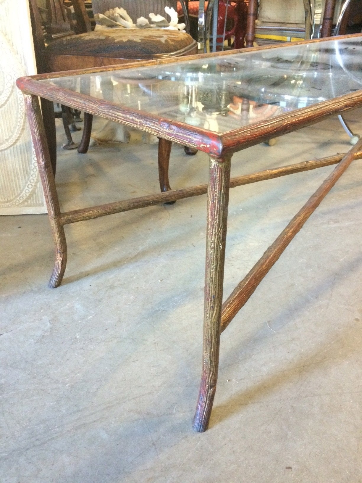 Long Narrow Bagues Style Faux Bois Coffee Table At 1Stdibs pertaining to Faux Bois Coffee Tables (Image 27 of 30)
