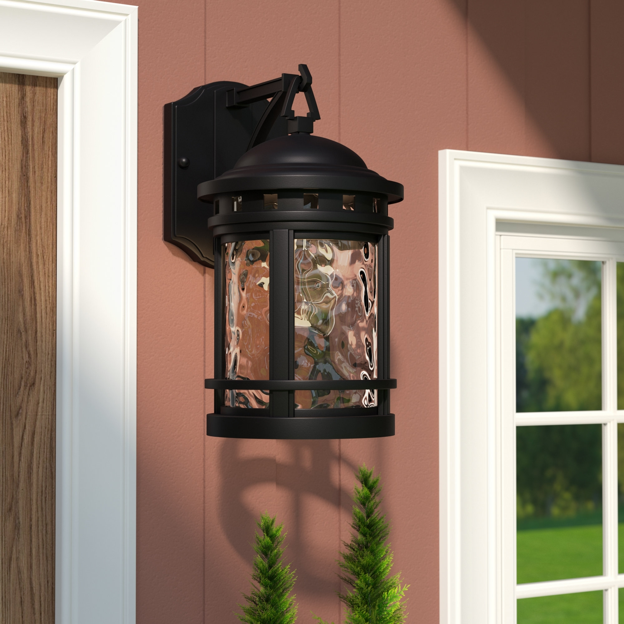 Loon Peak Ashberry 1 Light Outdoor Wall Lantern & Reviews | Wayfair With Regard To Outdoor Vinyl Lanterns (View 11 of 20)