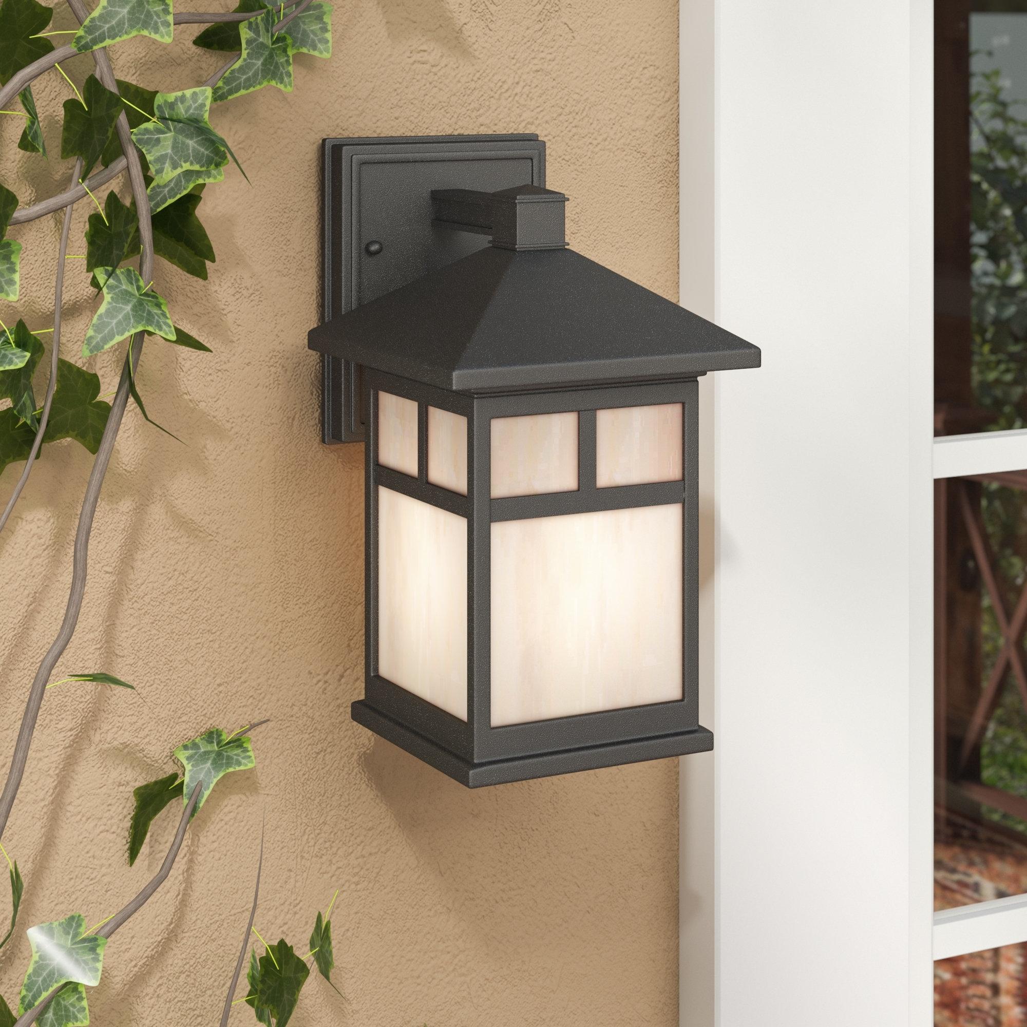 Loon Peak Burtundy 1 Light Outdoor Wall Lantern & Reviews | Wayfair Regarding Outdoor Oversized Lanterns (View 17 of 20)