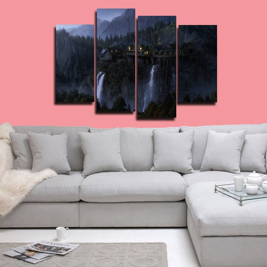 Lord Of The Rings Poster Lord Of The Rings Canvas The Hobbit   Etsy throughout Lord of the Rings Wall Art (Image 10 of 20)