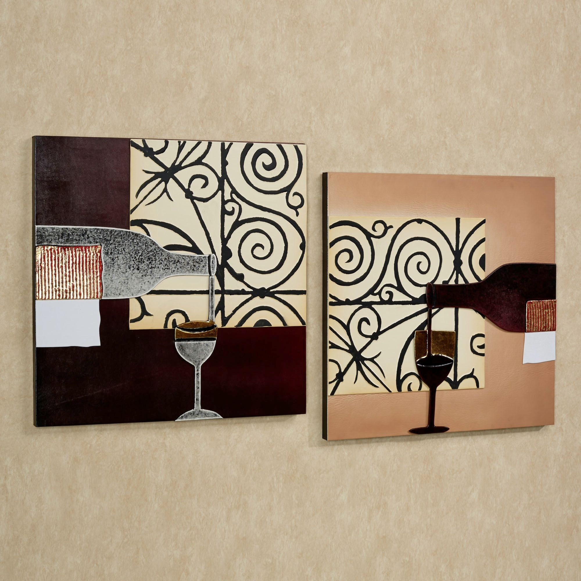 Lovable 2 Pieces Artwork Portray As Kitchen Wall Decor Hang On Soft within Modern Wall Art Decors (Image 9 of 20)