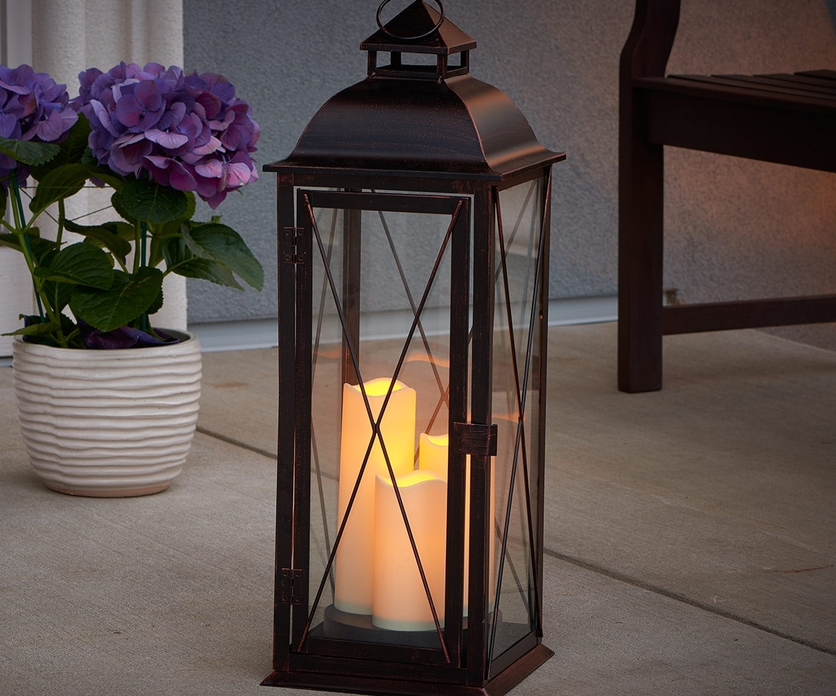 Lovable Timer For Bali Led Candle Lanterns Large Bali Led Candle With Outdoor Lanterns With Led Candles (View 7 of 20)