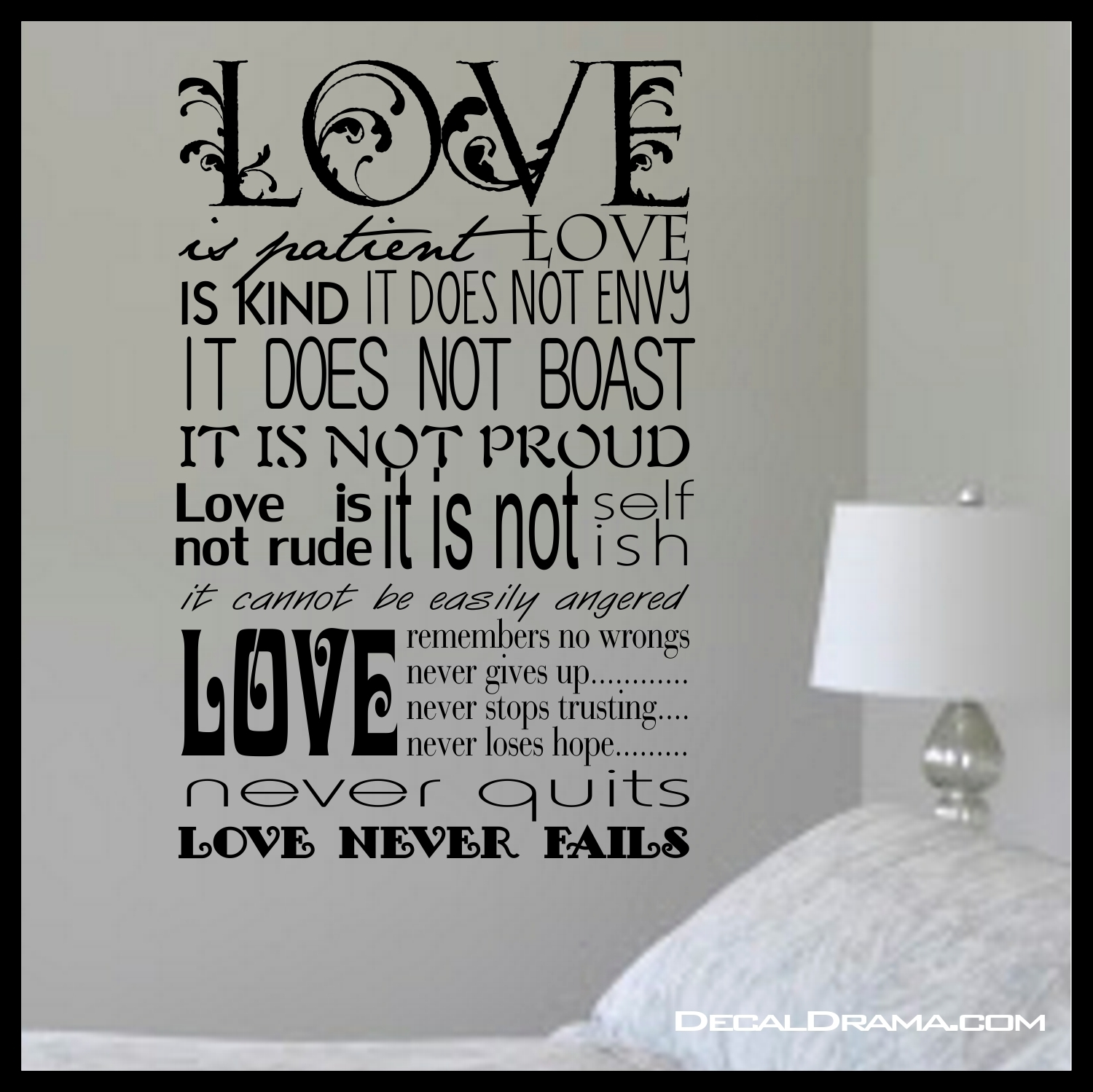 Love Is Patient Wall Art – Www (View 9 of 20)