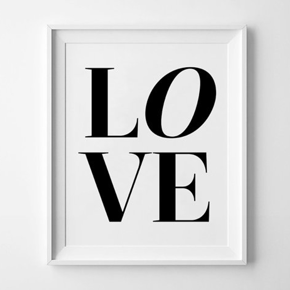Love Wall Art Prints Modern Printable Wall Art Black White Printable Pertaining To Love Wall Art (View 14 of 20)