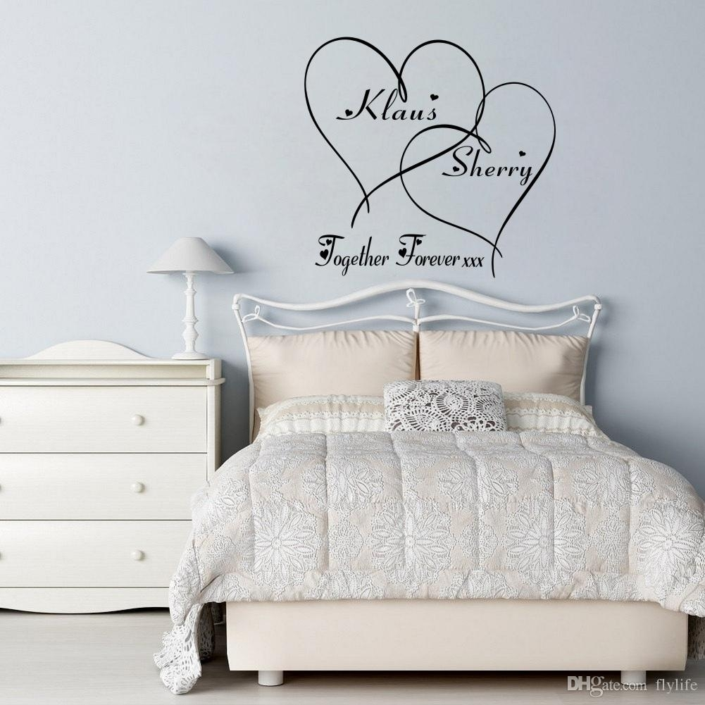 Love Wall Decals Customer Made Couples Name Romantic Personalised in Love Wall Art (Image 15 of 20)