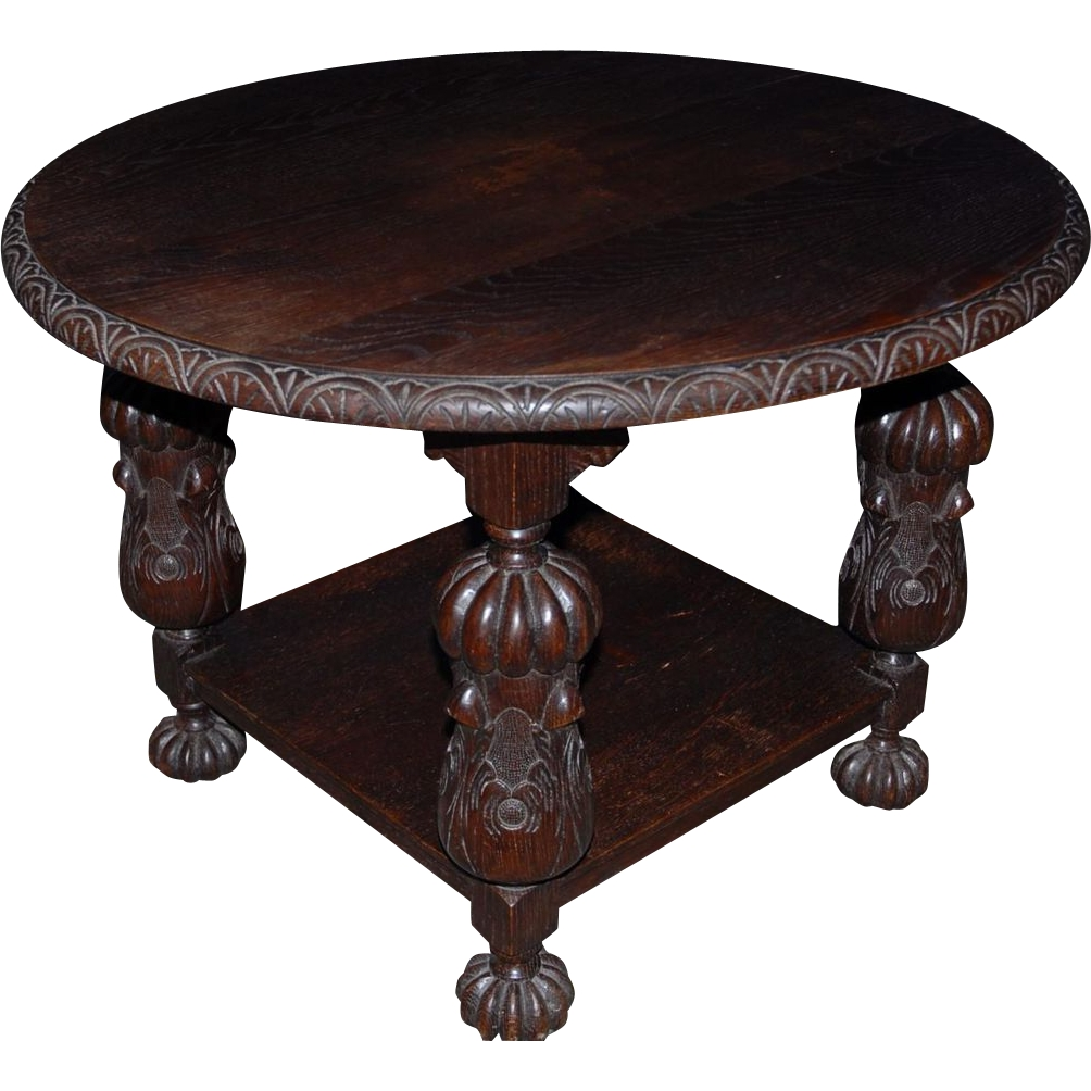Lovely Antique Round Coffee Table With Antique Finest Carved Wood for Round Carved Wood Coffee Tables (Image 12 of 30)